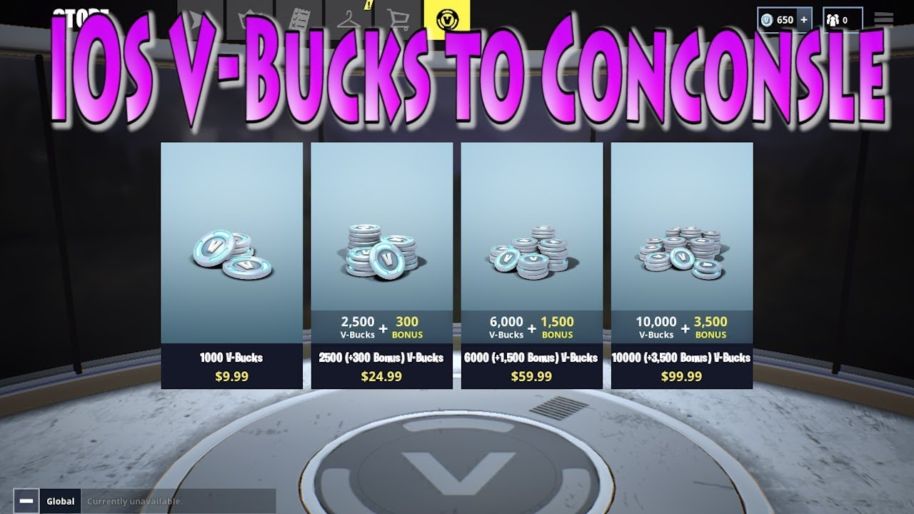How To Purchase V Bucks On Ios To Xbox Console Fortnite