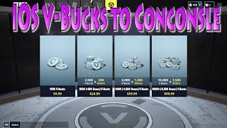 How to Purchase V-Bucks on IOS to Xbox/Console | Fortnite CrossPlatform V-Bucks