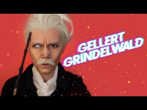 Gellert Grindelwald (Fantastic Beasts) - Makeup Transformation   Перевоплощение в Гриндевальда