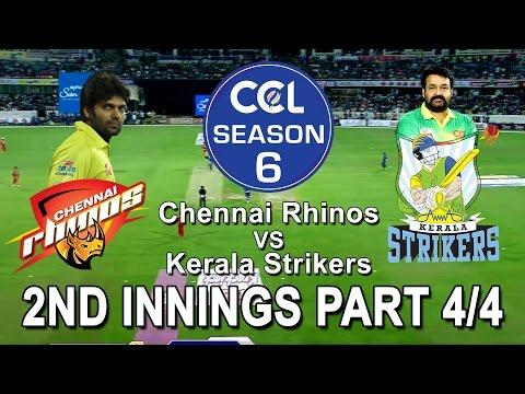 CCL6 - Chennai Rhinos VS Kerala Strikers || 2nd Innings Part 4/4