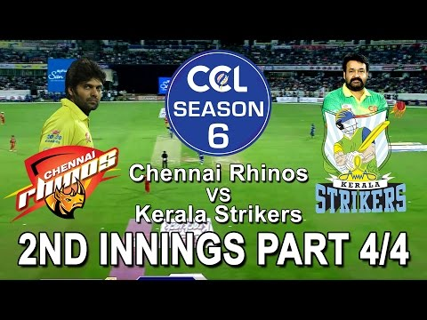 CCL6 - Chennai Rhinos VS Kerala Strikers || 2nd Innings Part 4/4