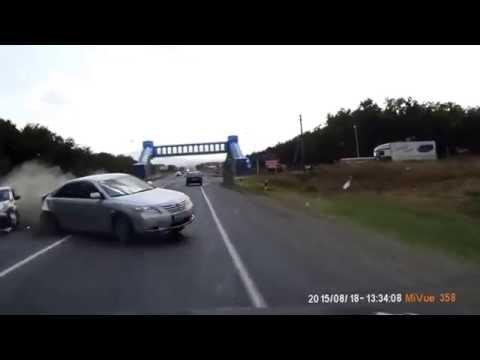 Frontal Car Crash near Mineralnye Vody