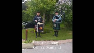 Wedding Piper & Drummer Scotland. Welcome wedding guests.