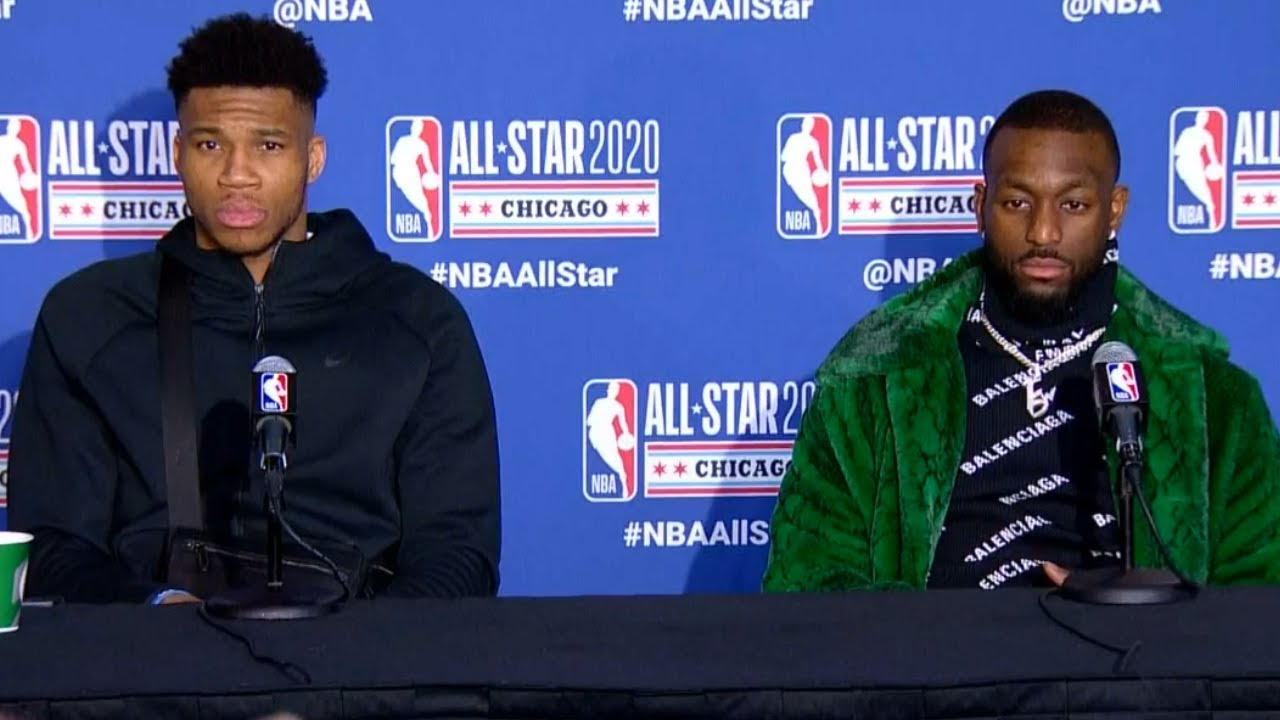 Kemba Walker & Giannis Antetokounmpo Postgame Interview - 2020 NBA All-Star Game