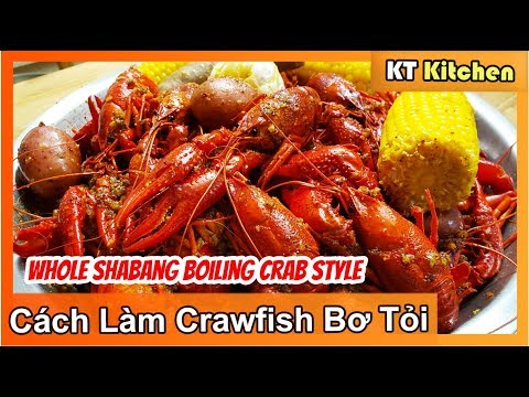 Nấu CRAWFISH SỐT BƠ TỎI [WHOLE SHA-BANG GARLIC SAUCE Boiling Crab's SECRET RECIPE ] ENGLISH CAPTION