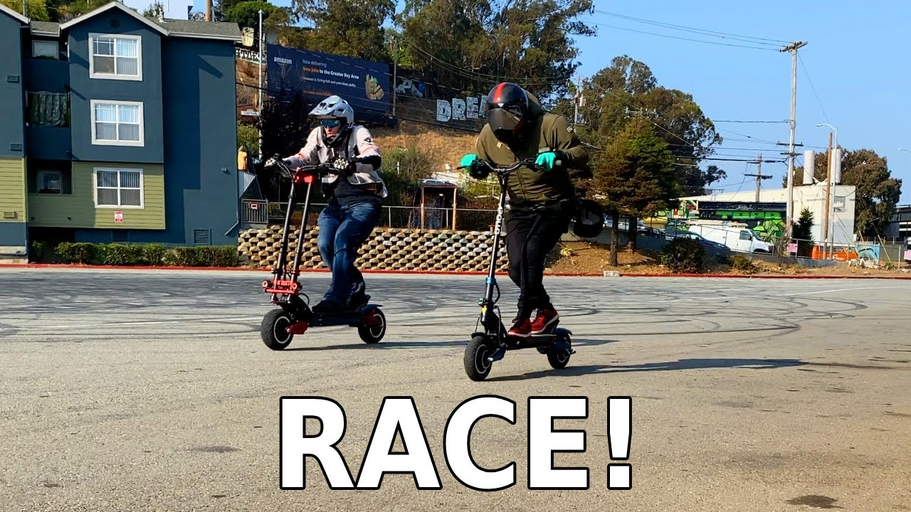 Apollo Pro Ludicrous vs Turbowheel Phaeton | Electric Scooter Race With Fast 2020 Models