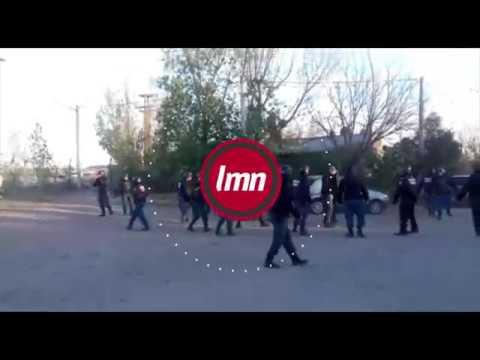 Tensión e incidentes en el desalojo de la toma de Parque Industrial