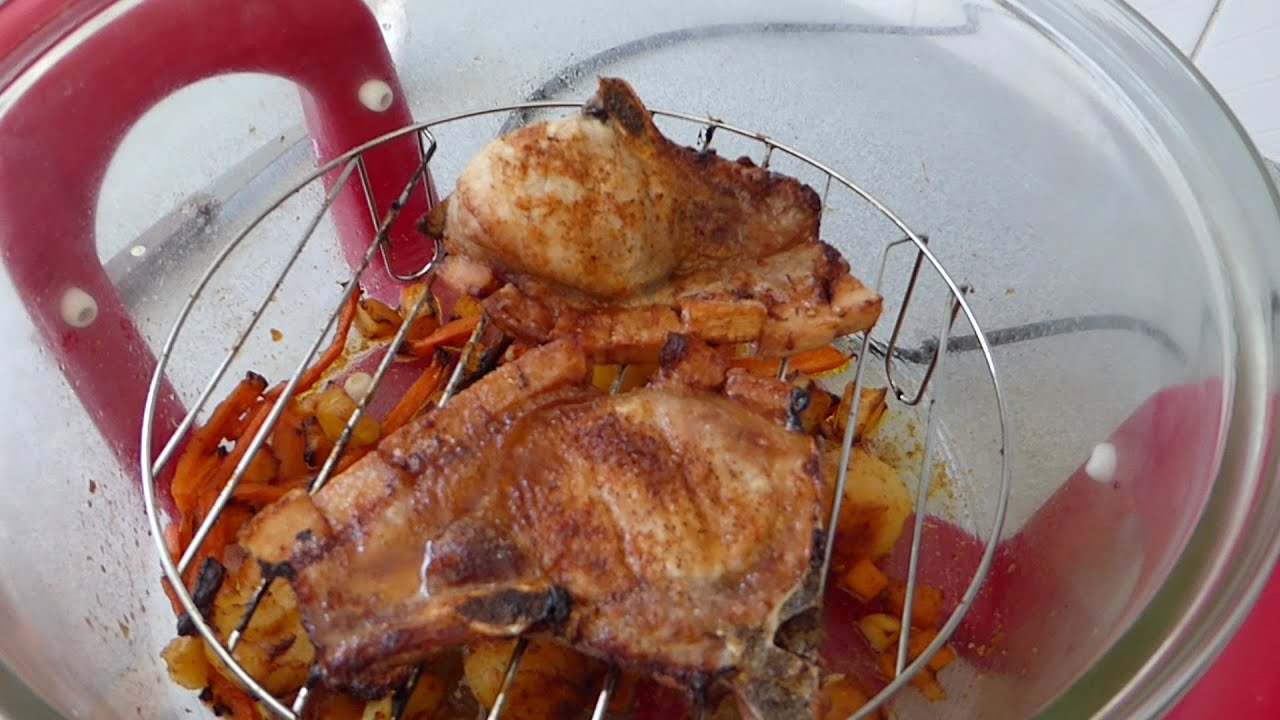 How To Grill Pork Chops In The Halogen Oven. Save Pounds Over Using A Gas  Or Electric Ovens.   YouTube