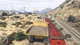 GTA 5 Dump Truck vs Train