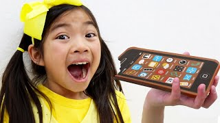 Emma and Andrew Chocolate Phone | Food and Toys Challenge