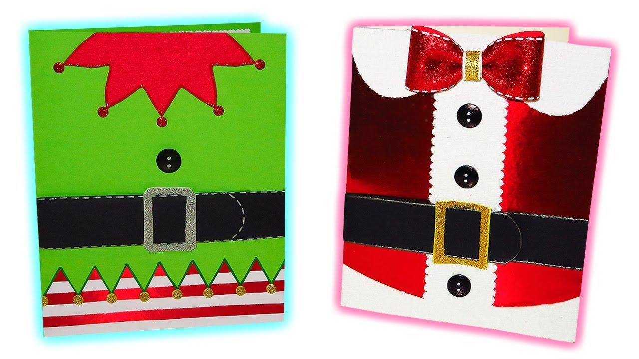 Diy postales o tarjetas navide as originales f ciles y - Dibujos tarjetas navidenas ...