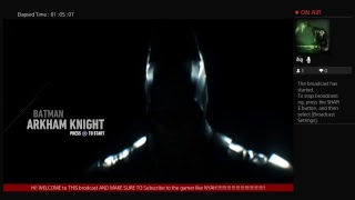 1 hour live stream batman arkham knight FULL