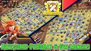 NEW CWL AFTER NERF!! PEKKA BOBAT & QW MINERS ATTACK MAX TH12 ( Clash of Clans )
