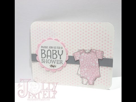 Saturdays With Stampin Up!  Baby Shower Invitations Part 1
