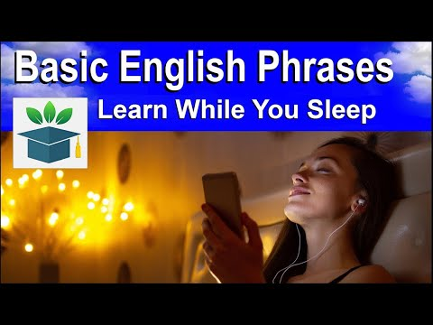 Learn Basic English Phrases and Words While You Sleep, Slow and Easy ★ Sleep Learning ★