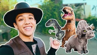 Dancing With Jurassic World Dinosaurs!