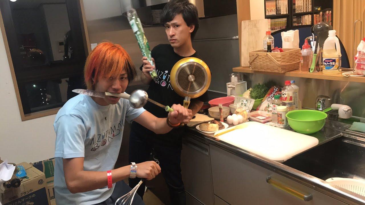 【生放送】料理できん男達のガチンコ20分クッキング