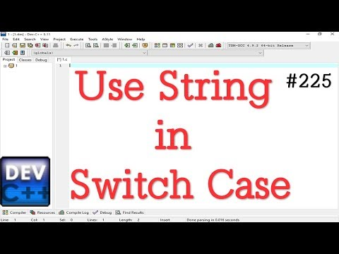 Use String In Switch Case Statement In C
