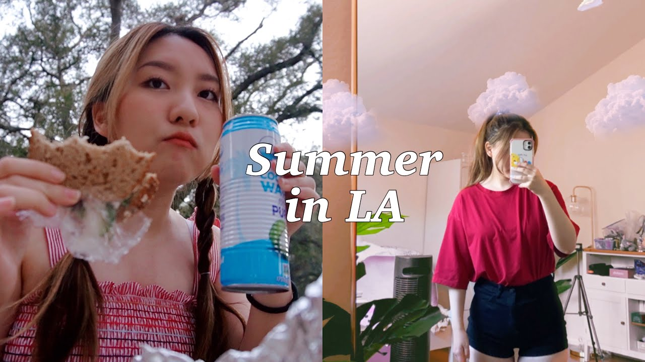summer vlog in LA 🌥 exam day, room makeover, picnic