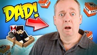 Minecraft TROLLING MY STAFF'S DAD!!!