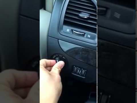 2017 Dodge Grand Caravan Head Light Switch Removal