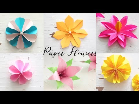 6 Easy DIY Paper Flowers | Flower Making
