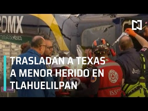 Trasladan a Galveston, Texas, a menor lesionado en explosión de Tlahuelilpan - Las Noticias