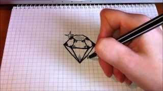 Простые рисунки #89 Как нарисовать Бриллиант(My life is brilliant !!! Как нарисовать простой рисунок обычной гелевой ручкой за несколько минут. Спасибо, что смот..., 2014-05-02T14:58:57.000Z)