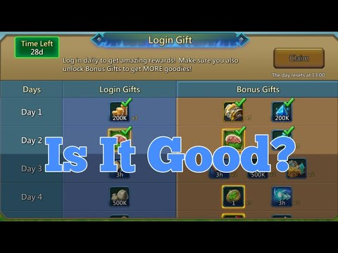 Login Gift Update Review - Lords Mobile