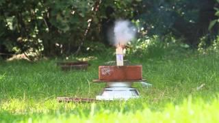 Essai moteur de rocket 17 (explosion)