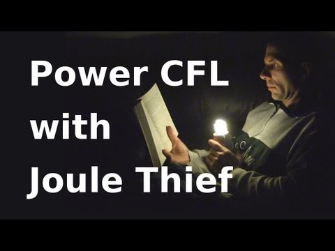 How to Make Joule Thief Light a CFL - Jeanna's Light