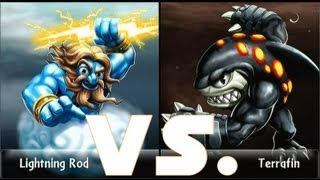 Skylanders Giants Lightning Rod (15) vs. Terrafin (15) Lets Play Duellmodus (German/Deutsch)