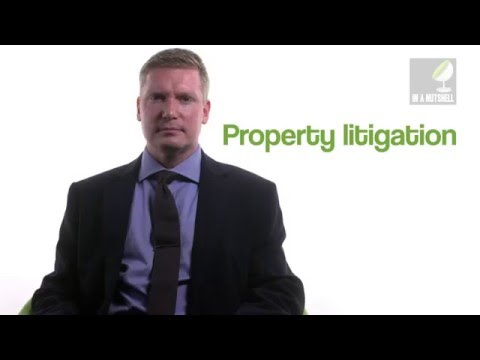 Property litigation - In a nutshell