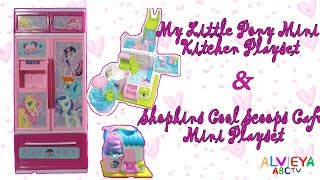 My Little Pony Mini Kitchen Playset & Shopkins Cool Scoops Cafe Mini Playset