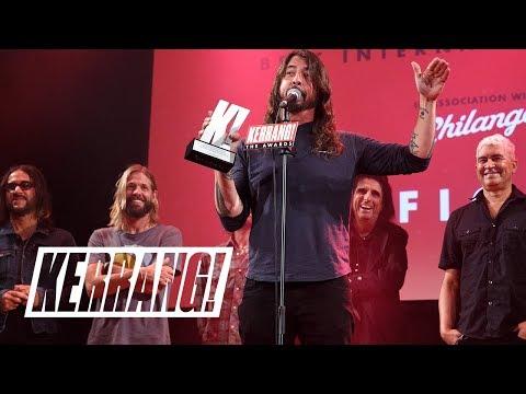 ALICE COOPER presents FOO FIGHTERS as Best International Band: Kerrang! Awards 2018