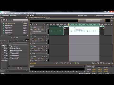 Adobe Audition CC Tutorial   Trimming, Splitting And Nudging Clips