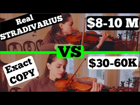 Real Stradivarius VS Exact Copy! Can You Hear The Difference?