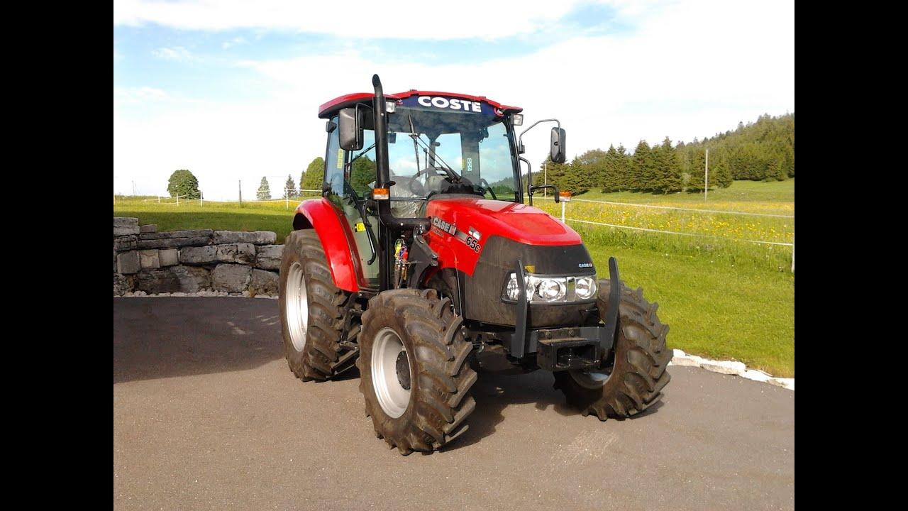 bruit d 39 chappement tracteur case youtube