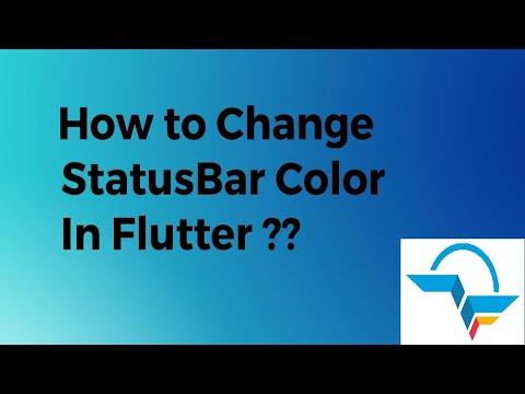 How to Change StatusBar Color in Flutter? | Flutter Tutorial | Flutter Agency
