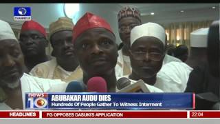 Hundreds Mourn Audu Abubakar