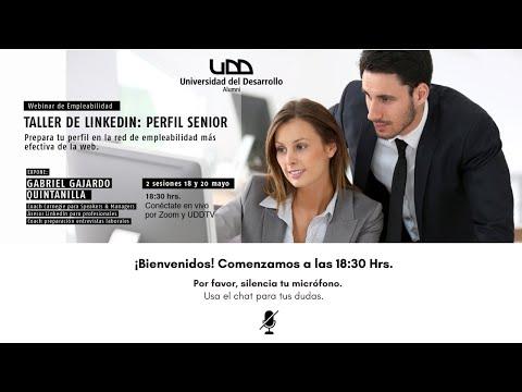 Webinars de Empleabilidad: Taller de LinkedIn Perfil Senior Sesión 1