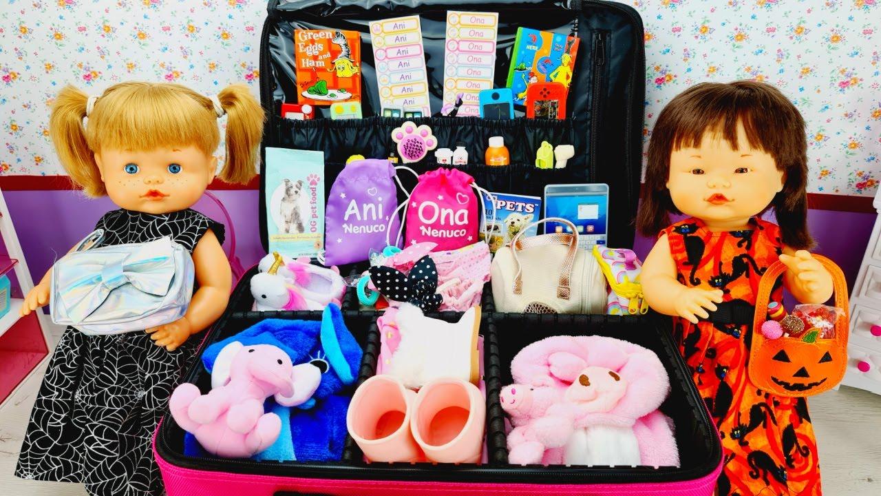 Download ANI y ONA hacen la maleta para el viaje de HALLOWEEN Muñecas Nenuco