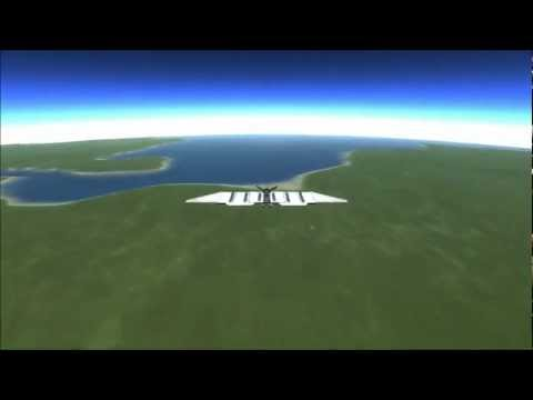 Kerbal Space Program - Travelling Around Kerbin In A Solar Plane