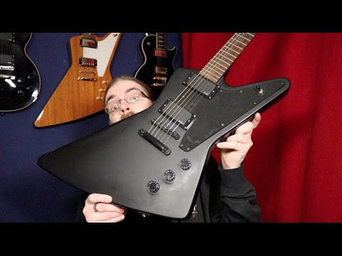 Epiphone Explorer Gothic EMG 81- Review/Overview