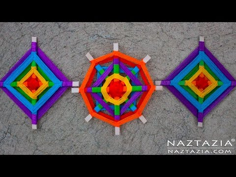 DIY Tutorial - Yarn Decoration Inspired By Ancient Ojo De Dios Mandala Folk Art (God's Eye)