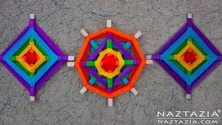 DIY Tutorial - Yarn Decoration Inspired by Ancient Ojo de Dios Mandala Folk Art (God's Eye)