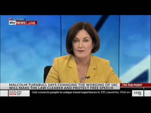 Sarah Henderson talks about 18C and marriage equality