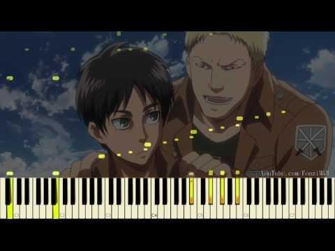 "Attack On Titan / Shingeki No Kyojin S2 E06 - ""Vogel Im Käfig"" (Piano Synthesia + Strings Extended)"