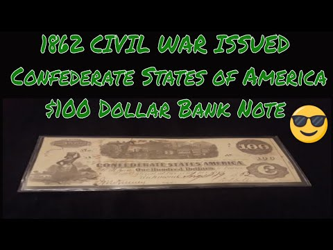 1862 Civil War Richmond VA $100 Confederate Bank Note S2 EP#4 Let's Talk Currency