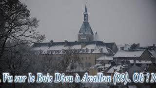Avallon (89) sous la neige ...